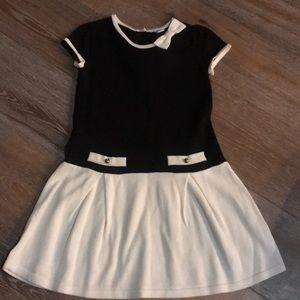 Black and white Janie and jack girls dress